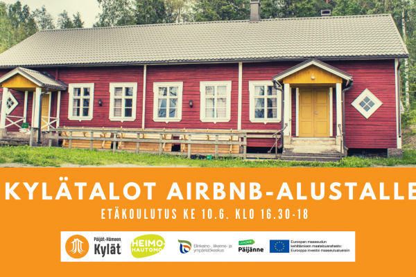 Kylätalot Airbnb-majoituspalveluun -etäkoulutus