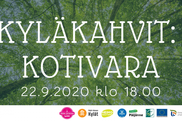 Kyläkahvit: Kotivara 22.9.2020 Klo 18.00 – 19.30