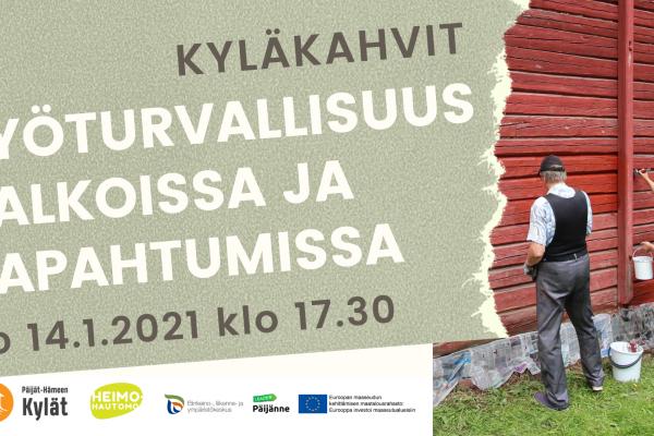 Etäkyläkahvit: Työturvallisuus talkoissa ja tapahtumissa 14.1.21